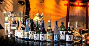 Range of Japanese wine